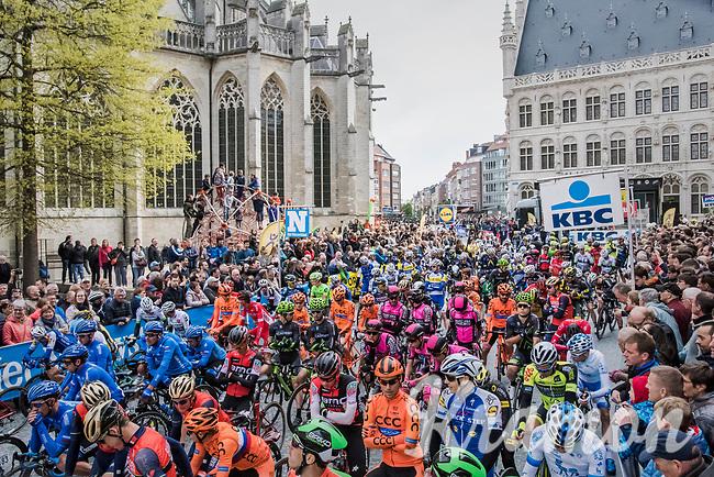 race start in Leuven<br /> <br /> 57th Brabantse Pijl - La Fl&egrave;che Braban&ccedil;onne (1.HC)<br /> 1 Day Race: Leuven &rsaquo; Overijse (197km)