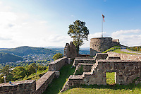 Germany, Bavaria, Lower Franconia, Bad Kissingen: castle ruin Botenlauben (also called Bodenlaube) | Deutschland, Bayern, Unterfranken, Bad Kissingen: Ruine Burg Botenlauben (auch Burg Bodenlaube)
