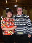 Betty McMullen celebrating her 50th birthday in the Grove House Dunleer with her brother Ray Torris. Photo:Colin Bell/pressphotos.ie