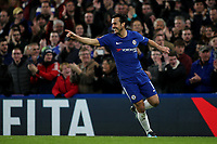 Pedro celebrates scoring Chelsea's second goal during Chelsea vs Hull City, Emirates FA Cup Football at Stamford Bridge on 16th February 2018