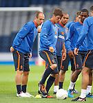 Arjen Robben and Klaus Jan Huntelaar at training