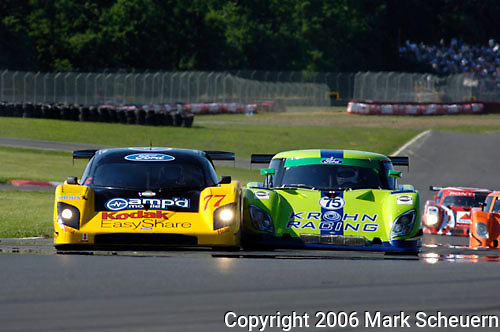 The Doran Racing Ford Doran and Khron Racing Ford Riley come in contact at the start of the Emco Gears Classic at Mid-Ohio, 2006<br /> <br /> Please contact me for the full-size image<br /> <br /> For non-editorial usage, releases are the responsibility of the licensee.