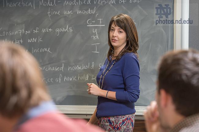 Nov. 5, 2014; Kasey Buckles class. (Photo by Matt Cashore/University of Notre Dame)