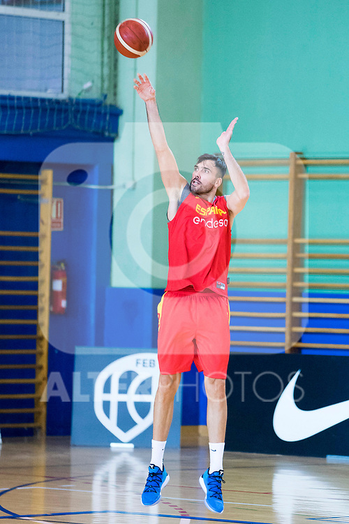 Pierre Oriola after the training of Spanish National Team of Basketball. August 07, 2019. (ALTERPHOTOS/Francis González)