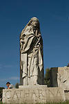 statue of catherina in rome italy