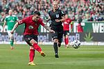 13.04.2019, Weser Stadion, Bremen, GER, 1.FBL, Werder Bremen vs SC Freiburg, <br /> <br /> DFL REGULATIONS PROHIBIT ANY USE OF PHOTOGRAPHS AS IMAGE SEQUENCES AND/OR QUASI-VIDEO.<br /> <br />  im Bild<br /> <br /> Jerome Gondorf (SC Freiburg #20)<br /> <br /> Foto © nordphoto / Kokenge