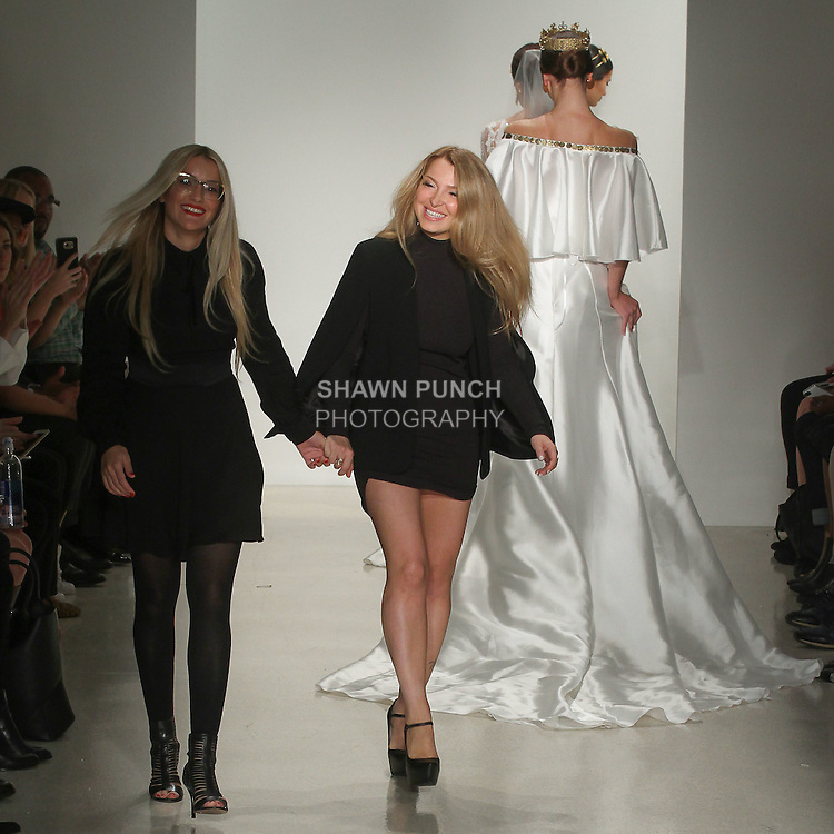 Closing walk for the Julie Vino Santorini Fall Winter collection 2016, during New York Bridal Fashion Week.