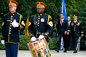 Arlington, VA - May 25, 2009 -- United States President Barack Obama arrives at the Tomb of the Unknown Soldier for Memorial Day commemorations at Arlington National Cemetery, Arlington, VA, Monday, May 25, 2009. .Mandatory Credit: Chad J. McNeeley - DoD via CNP...........  .Mandatory Credit: Chad J. McNeeley - DoD via CNP  .Mandatory Credit: Chad J. McNeeley - DoD via CNP