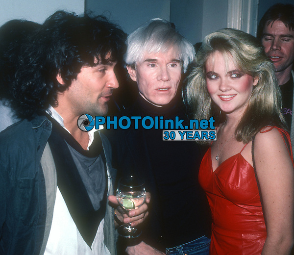 Billy Squire Andy Warhol and Cornelia Guest<br /> 1983<br /> Photo By John Barrett/CelebrityArchaeology.com