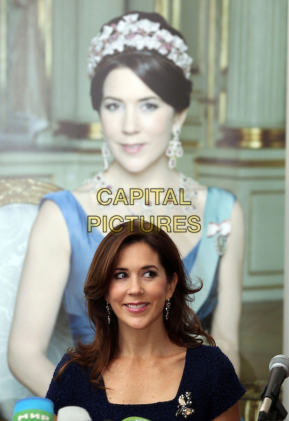 Crown Princess Mary Elizabeth Donaldson visits Saint Petersburg, Russia..October 8th, 2012.royal royalty headshot portrait black blue.CAP/PER/I03.©I03/PersonaStars/CapitalPictures.