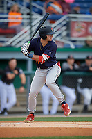 State College Spikes David Vinsky (11) at bat during a NY-Penn League game against the Batavia Muckdogs on August 24, 2019 at Dwyer Stadium in Batavia, New York.  State College defeated Batavia 1-0.  (Mike Janes/Four Seam Images)