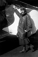Marjorie Stinson, only woman to whom a pilot's license has been granted by Army &amp; Navy Committee of Aeronautics.  Harris &amp; Ewing. (War Dept.)<br />