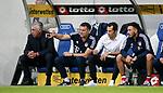 10.09.2017, Wirsol Rhein-Neckar-Arena, Sinsheim, GER, 1.FBL, TSG 1899 Hoffenheim vs FC Bayern M&uuml;nchen<br />  im Bild<br /> Trainer Carlo Ancelotti (M&uuml;nchen), Co-Trainer Willy Sagnol (M&uuml;nchen), Sportdirektor Hasan Salihamidzic (M&uuml;nchen), Davide Ancelotti (M&uuml;nchen)<br /> Foto &copy; nordphoto / Bratic
