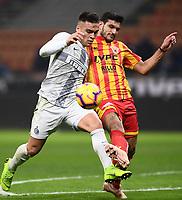 Lautaro Martinez-Alessandro Tuia<br /> Milano 13-1-2019 Stadio Giuseppe Meazza <br /> Football Italy Cup 2018/2019 Inter - Benevento <br /> Foto Image Sport  / Insidefoto
