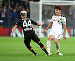Tottenham's Heung-Min Son tussles with Leverksen's Kevin Kampl during the Champions League group E match at the Wembley Stadium, London. Picture date November 2nd, 2016 Pic David Klein/Sportimage