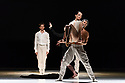 London, UK. 26.06.2018. Nederlands Dans Theater 1 presents a mixed bill at Sadler's Wells theatre, comprising work by Leon & Lightfoot, Pite and Goecke. The piece shown is: STOP MOTION, by Leon and Lightfoot. The dancers are: Roger Van Der Poel, Jorge Nozal, Jianhui Wang, Meng-Ke Wu, Sarah Reynolds, Chloe Albaret, Prince Credell, Marne van Opstal. Picture shows: Roger Van der Poel, Chloe Albaret, Jorge Nozal. Photograph © Jane Hobson.