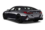 Car pictures of rear three quarter view of 2020 BMW M8-Gran-Coupe Competition 4 Door Sedan Angular Rear