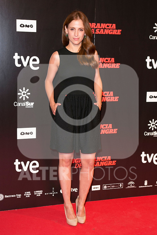 "Sara Ballesteros attends ""La Ignorancia de la Sangre"" Premiere at Capitol Cinema in Madrid, Spain. November 13, 2014. (ALTERPHOTOS/Carlos Dafonte)"