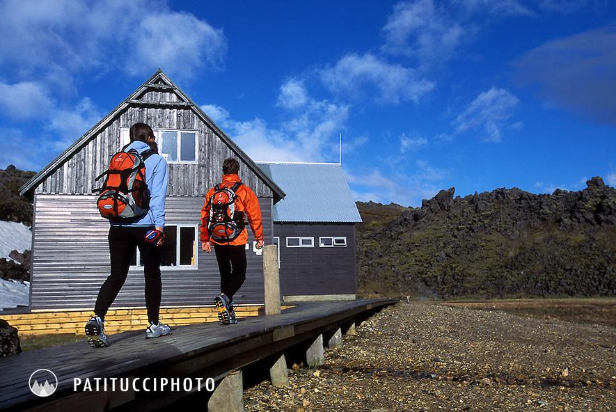 Landmannalaugar Hut. Laugavegur Trek, Iceland