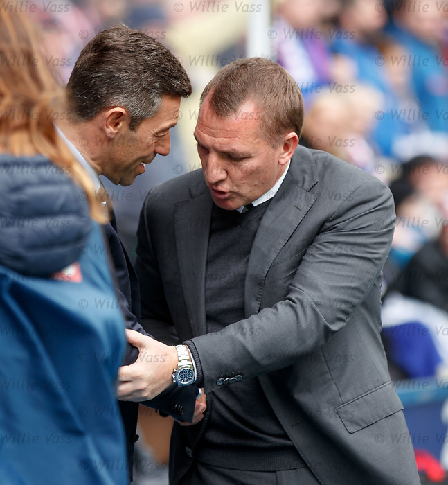 Pedro Caixinha and Brendan Rodgers