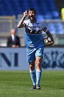 Francesco Acerbi of Lazio during the Serie A 2018/2019 football match between SS Lazio and AC Chievo Verona at stadio Olimpico, Roma, April, 20, 2019 <br /> Photo Antonietta Baldassarre / Insidefoto