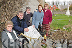 Family Grave: At their family grave in the Lisselton graveyard on Thursday last were Peggy Maloney, Phil Stack, Jim Stack, Mary Byrnes and Kathleen Maloney, who are asking for someone to come and maintain the tower over their plot.