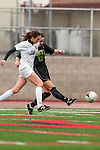 Palos Verdes, CA 01/26/10 - Morgan Hilby (MC #22) and Carly Brahim (28) in action during the Mira Costa vs Palos Verdes Girls Varsity soccer game at Palos Verdes High School.