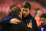 Manager of Liverpool, Brendan Rodgers and Mauricio Pochettino, Tottenham's Manager - Liverpool vs. Tottenham Hotspurs - Barclay's Premier League - Anfield - Liverpool - 10/02/2015 Pic Philip Oldham/Sportimage
