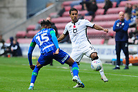 Wayne Routledge of Swansea City in action during the Sky Bet Championship match between Wigan Athletic and Swansea City at The DW Stadium in Wigan, England, UK. Saturday 2 November 2019