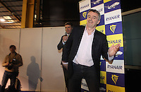 ***NO FEE PIC***.28/01/2011.Ryanair CEO Michael O' Leary at the Travel Clinic during the Holiday World Show in the RDS, Dublin..Photo: Gareth Chaney Collins