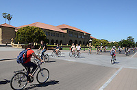 Students at Stanford University, Stanford, California, USA, find bicycles an efficient way to move around the extensive campus. Taken May 2013. 201305022342<br /> <br /> Copyright Image from Victor Patterson, 54 Dorchester Park, Belfast, UK, BT9 6RJ<br /> <br /> Tel: +44 28 9066 1296<br /> Mob: +44 7802 353836<br /> Voicemail +44 20 8816 7153<br /> Skype: victorpattersonbelfast<br /> Email: victorpatterson@me.com<br /> Email: victorpatterson@ireland.com (back-up)<br /> <br /> IMPORTANT: If you wish to use this image or any other of my images please go to www.victorpatterson.com and click on the Terms & Conditions. Then contact me by email or phone with the reference number(s) of the image(s) concerned.