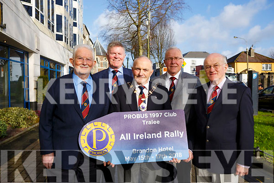 Tralee '97 Probus Club will be hosting the PROBUS All-Ireland Rally in the Brandon Conference Centre in May, l-r: Brendan Dineen, Billy Myles, Liam Sayers (President), John Murphy and Peter Kelly.
