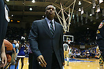 16 January 2016: Notre Dame assistant coach Anthony Solomon. The Duke University Blue Devils hosted the University of Notre Dame Fighting Irish at Cameron Indoor Stadium in Durham, North Carolina in a 2015-16 NCAA Division I Men's Basketball game. Notre Dame won the game 95-91.