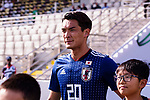 Makino Tomoaki of Japan enters the pitch prior to the AFC Asian Cup UAE 2019 Group F match between Japan (JPN) and Turkmenistan (TKM) at Al Nahyan Stadium on 09 January 2019 in Abu Dhabi, United Arab Emirates. Photo by Marcio Rodrigo Machado / Power Sport Images