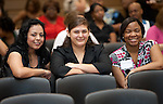Alma Rodriguez Celeste Tijernia, and Mykahla Williams at the 2011 Aldine Scholarship Foundation Scholarship Ceremony at Lone Star College - North Harris