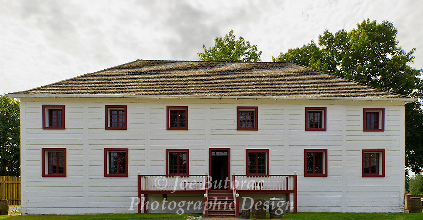 Big House at Fort Langley National Historic Site. British Columbia was proclaimed a colony in the Big House on November 19 1858. The original building served as the fort's office and residence for the chief trader,the clerk, and their families.