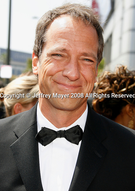 LOS ANGELES, CA. - September 13: Tv Host Mike Rowe arrives at the 60th Primetime Creative Arts Emmy Awards held at Nokia Theatre on September 13, 2008 in Los Angeles, California.