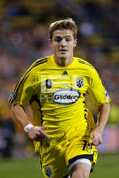 25 OCTOBER 2009:  Robbie Rogers of the Columbus Crew (19) during the New England Revolution at Columbus Crew MLS game in Columbus, Ohio on October 25, 2009.