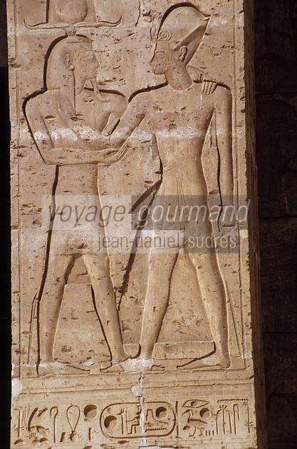 Afrique/Egypte/Abydos: Le temple de Séti I - Détail