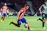 Angel Correa of Atletico de Madrid in action during the La Liga 2017-18 match between Atletico de Madrid and Malaga CF at Wanda Metropolitano on 16 September 2017 in Madrid, Spain. Photo by Diego Gonzalez / Power Sport Images