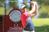 Haydn Porteous (RSA) tees off the 6th tee during Saturday's Round 3 of the 2018 Omega European Masters, held at the Golf Club Crans-Sur-Sierre, Crans Montana, Switzerland. 8th September 2018.<br /> Picture: Eoin Clarke | Golffile<br /> <br /> <br /> All photos usage must carry mandatory copyright credit (&copy; Golffile | Eoin Clarke)