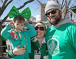 Four year old Lilly, Brittney and Shawn Hardiman during the Shamrock Shuffle 5k fun run in Sparks on Saturday, March 4, 2017.