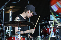 Kazoos perform at AmpRocks 2018, part of AmpFest, at Ampthill Great Park, Ampthill, England on 29 June 2018. Photo by David Horn.