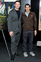 "NEW YORK - DECEMBER 5: L-R: Actror Hugh Jackman and climber Alex Honnold  attend a screening of National Geographic Documentary Films ""Free Solo"" at the Walter Reade Theater on December 5, 2018 in New York City. (Photo by Stephen Smith/National Geographic/PictureGroup)"