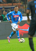 Camilo Zuniga  during the Italian serie A   soccer match between SSC Napoli and Inter    at  the San Siro    stadium in Milan  Italy , Octoberr 19 , 2014