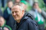 13.04.2019, Weser Stadion, Bremen, GER, 1.FBL, Werder Bremen vs SC Freiburg, <br /> <br /> DFL REGULATIONS PROHIBIT ANY USE OF PHOTOGRAPHS AS IMAGE SEQUENCES AND/OR QUASI-VIDEO.<br /> <br />  im Bild<br /> Christian Streich (Trainer SC Freiburg)<br /> Gestik, Mimik,<br /> <br /> <br /> Foto © nordphoto / Kokenge