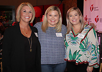 NWA Democrat-Gazette/CARIN SCHOPPMEYER Nancy Mueller (from left), Yasmin Tooley and Fallon Langford gather at Healthy, Beautiful You.