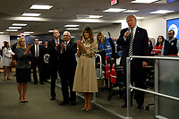 United States President Donald J. Trump speaks to employees at the National Response Coordination Center inside the FEMA headquarters on June 6, 2018 in Washington, DC. <br /> <br /> CAP/MPI/RS<br /> &copy;RS/MPI/Capital Pictures