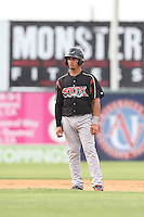 Benji Gonzalez #19 of the Lake Elsinore Storm runs the bases during a game against the Lancaster JetHawks at The Hanger on August 2, 2014 in Lancaster, California. Lake Elsinore defeated Lancaster, 5-1. (Larry Goren/Four Seam Images)