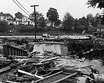Church Street Ridge in Torrington after the 1955 flood.